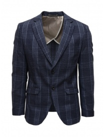 Selected Homme dark blue checkered jacket online