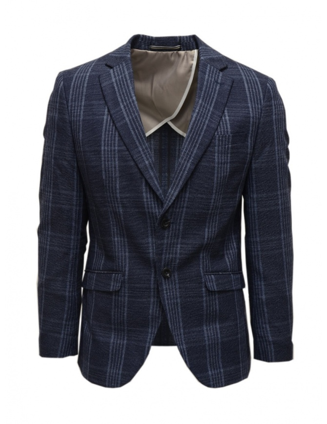 Selected Homme dark blue checkered jacket 16072097 DARK BLUE mens suit jackets online shopping