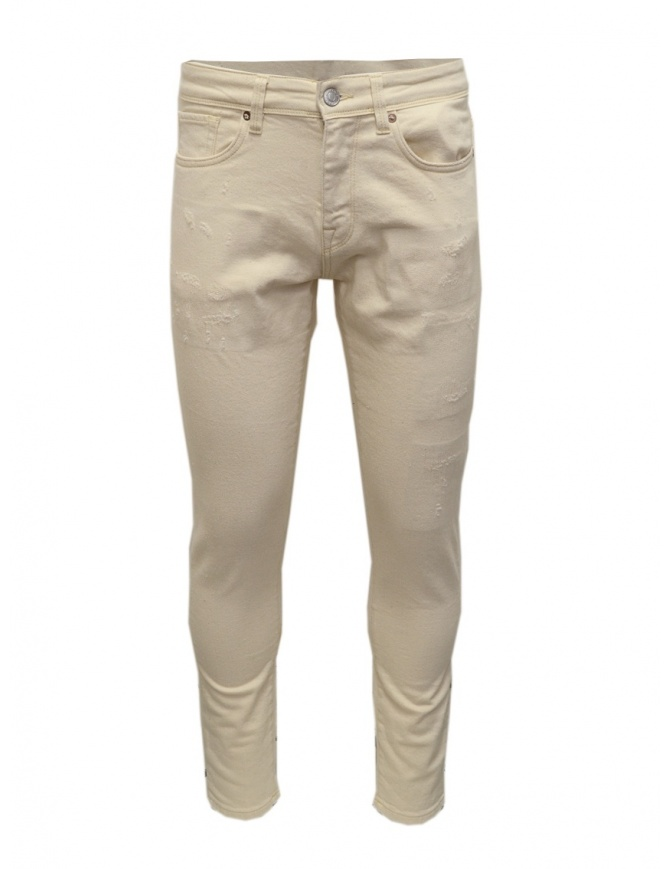 Selected Homme ivory jeans 16074264 WHITE DENIM mens trousers online shopping