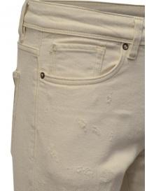 Jeans Selected Homme colore avorio pantaloni uomo acquista online