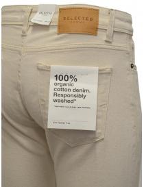Jeans Selected Homme colore avorio pantaloni uomo prezzo