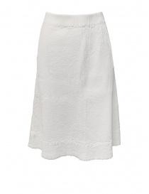 Womens skirts online: Crêperie white skirt