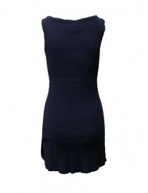 Crêperie blue dress with slit