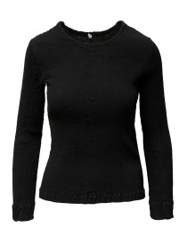 Womens knitwear online: Crêperie women's black sweater