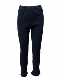 Womens trousers online: Crêperie navy trousers