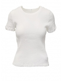 Womens knitwear online: Crêperie white t-shirt