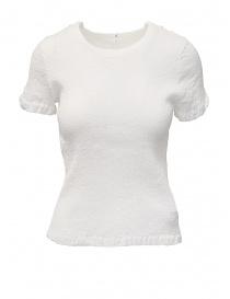 Maglieria donna online: T-shirt Crêperie colore bianco