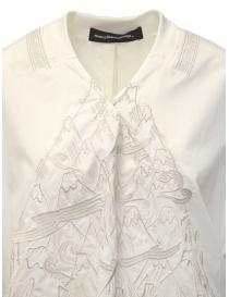 Mercibeaucoup, blusa bianco avorio con ricami frontali
