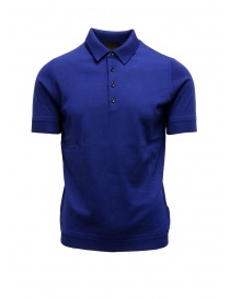 Mens t shirts online: Goes Botanical teal blue polo shirt