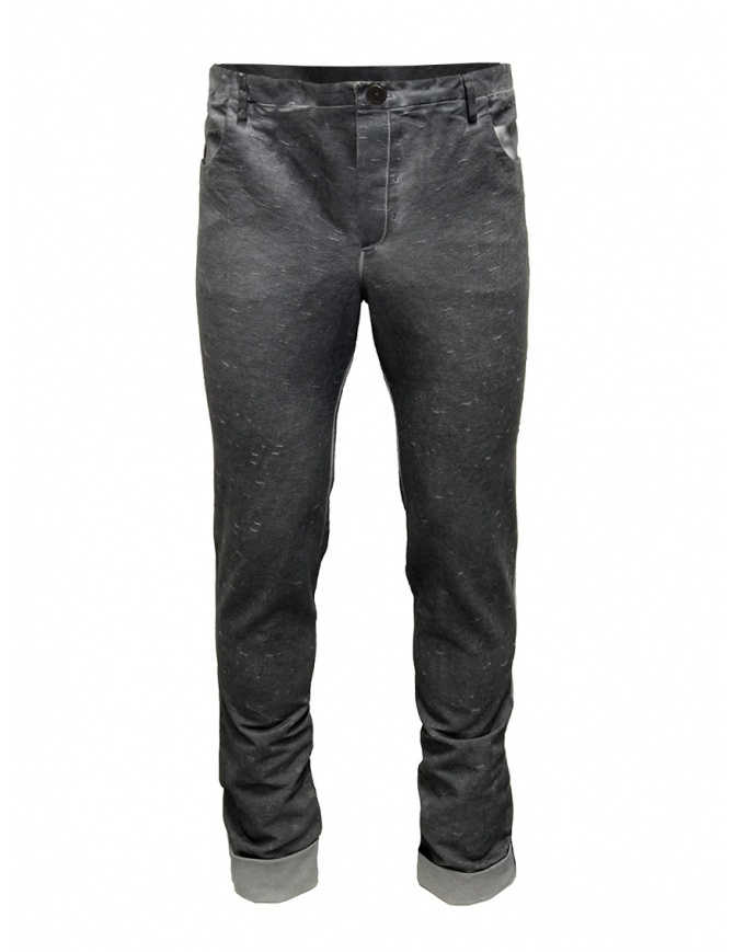 Label Under Construction gray Fly Yarn pants 18FMPN26CO124DD18/0-6 mens trousers online shopping