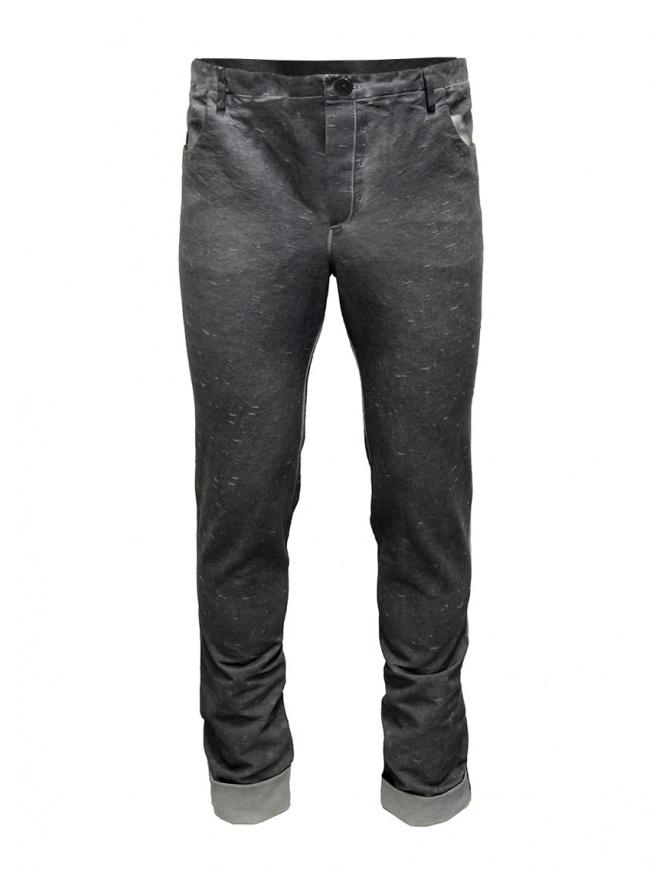 Label Under Construction pantaloni grigi Fly Yarn 18FMPN26CO124DD18/0-6 pantaloni uomo online shopping