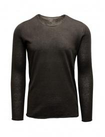 Label Under Construction maglia con bordi arricciati marrone grigia online