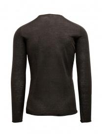 Label Under Construction maglia con bordi arricciati marrone grigia