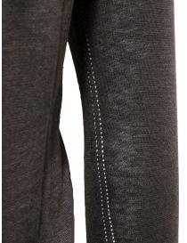 Label Under Construction maglia con bordi arricciati marrone grigia prezzo