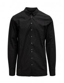 Camicie uomo online: Label Under Construction camicia Invisible Buttonholes nera