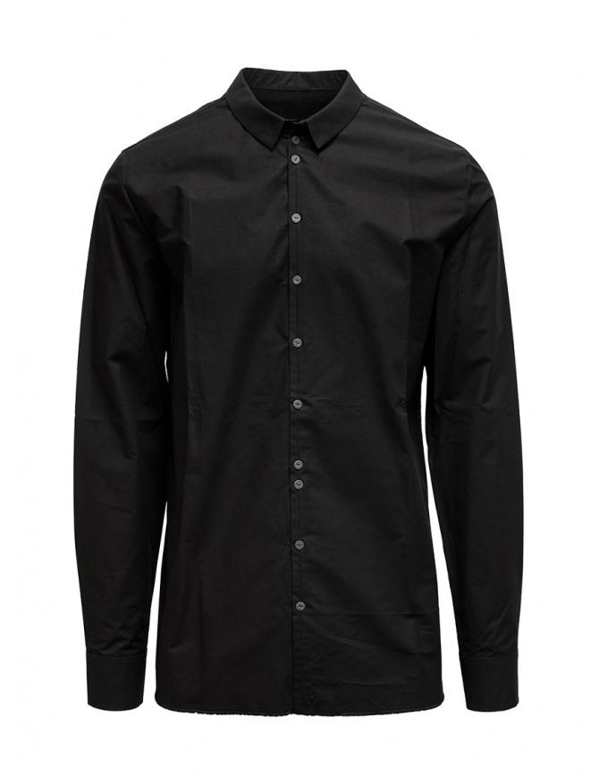 Label Under Construction black Invisible Buttonholes shirt 30FMSH37 CO184 30/9 SHIRT mens shirts online shopping