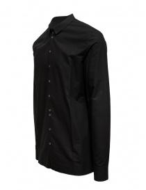 Label Under Construction black Invisible Buttonholes shirt