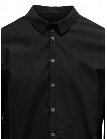 Label Under Construction camicia Invisible Buttonholes nera camicie uomo acquista online