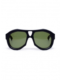 Glasses online: Paul Easterlin Dean black glasses with green lenses