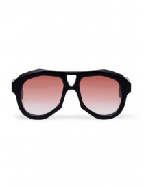 Glasses online: Paul Easterlin Dean matte black glasses with red lenses