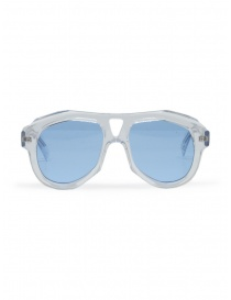 Glasses online: Paul Easterlin Dean transparent glasses with blue lenses