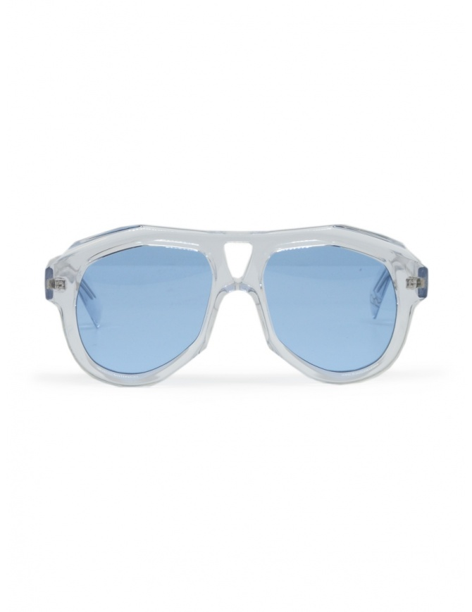Paul Easterlin Dean transparent glasses with blue lenses DEAN CRISTAL BLUE LENSE glasses online shopping
