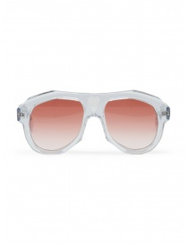 Glasses online: Paul Easterlin Dean transparent glasses with red lenses