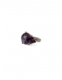 Kioukas silver ring with amethyst online