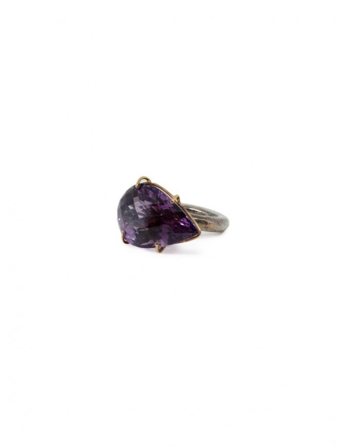 Kioukas anello in argento con ametista AMETISTA SILVER RINGS 950 preziosi online shopping