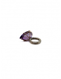 Kioukas silver ring with amethyst