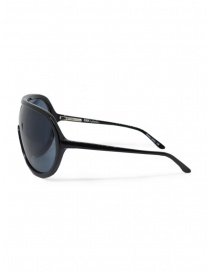 Tsubi Plastic Black teardrop sunglasses price