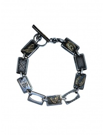 Yohji Yamamoto silver bracelet with angels on discount sales online