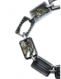 Yohji Yamamoto silver bracelet with angels