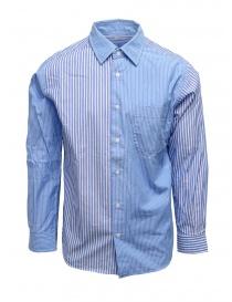 Morikage camicia a righe bianche e azzurre online