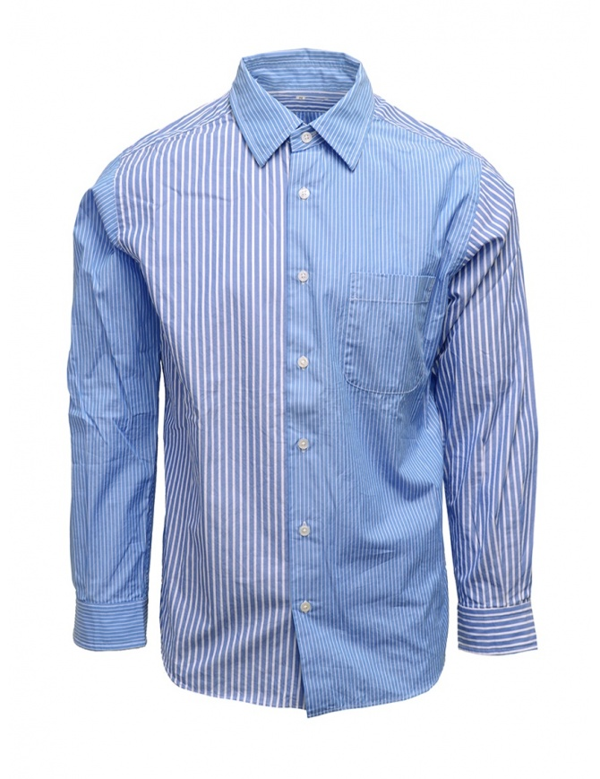 Morikage camicia a righe bianche e azzurre E-081022-7 MRKGS camicie uomo online shopping
