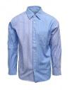 Morikage camicia a righe bianche e azzurre acquista online E-081022-7 MRKGS