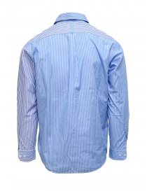 Morikage blue and white striped shirt