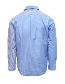 Morikage camicia a righe bianche e azzurre