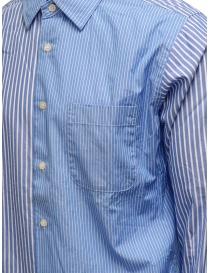 Morikage camicia a righe bianche e azzurre prezzo