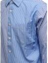 Morikage camicia a righe bianche e azzurre E-081022-7 MRKGS prezzo
