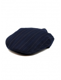 Ralph Lauren RRL blue wool striped flat cap
