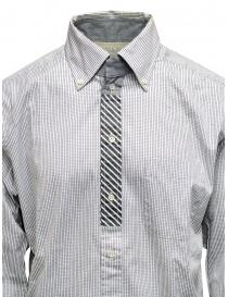 Morikage white and black check shirt