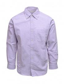 Morikage camicia lilla con retro a quadretti online