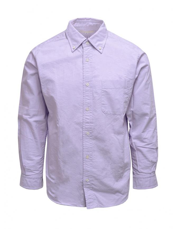 Morikage camicia lilla con retro a quadretti E-081022-1 MRKGS camicie uomo online shopping
