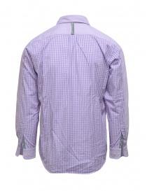 Morikage camicia lilla con retro a quadretti