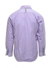 Morikage lilac shirt with checkered back