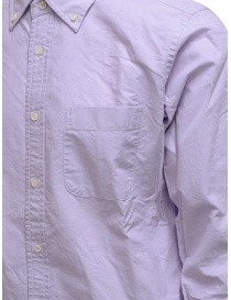 Morikage lilac shirt with checkered back price