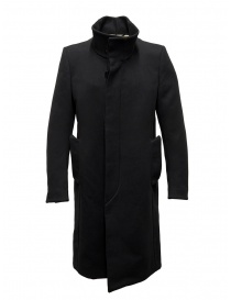 Mens coats online: Carol Christian Poell OM/2658B heavy black coat