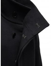 Carol Christian Poell OM/2658B cappotto nero pesante cappotti uomo prezzo