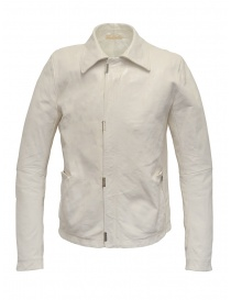 Mens jackets online: Carol Christian Poell white leather jacket